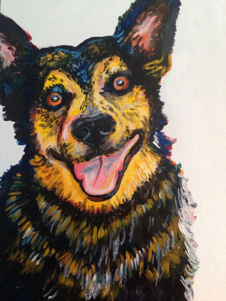 Brock Acrylic on canvas 2015