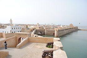 El Jadida au Maroc :Muraille face à l'Atlantique