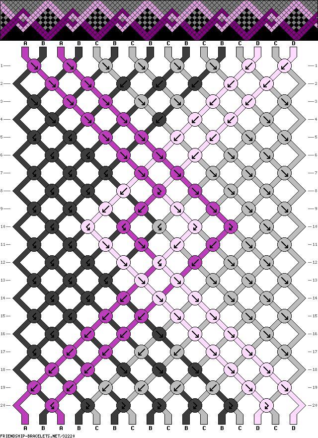 Muster # 32220, Streicher: 16 Zeilen: 20 Farben: 4