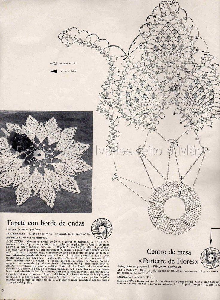 9 best Centro de mes en crochet images on Pinterest   Tapetes de ...