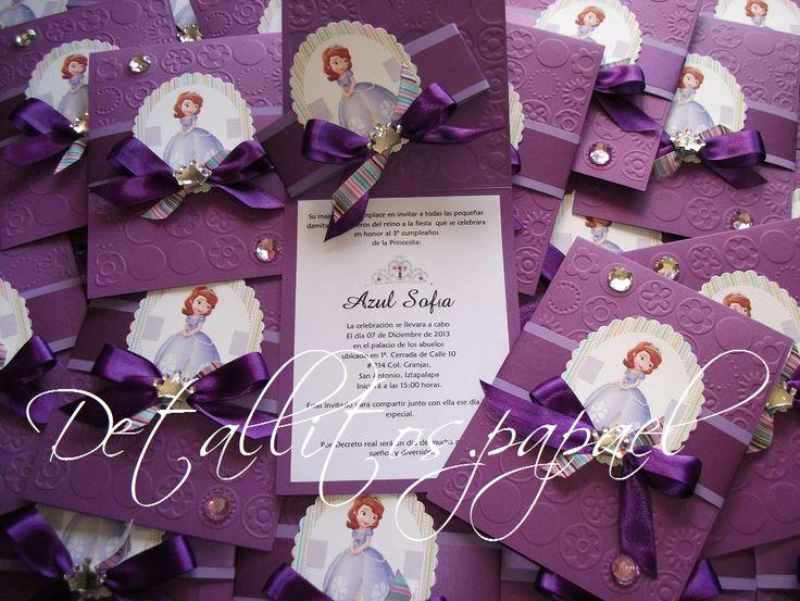 Invitaciones Princesita sofia