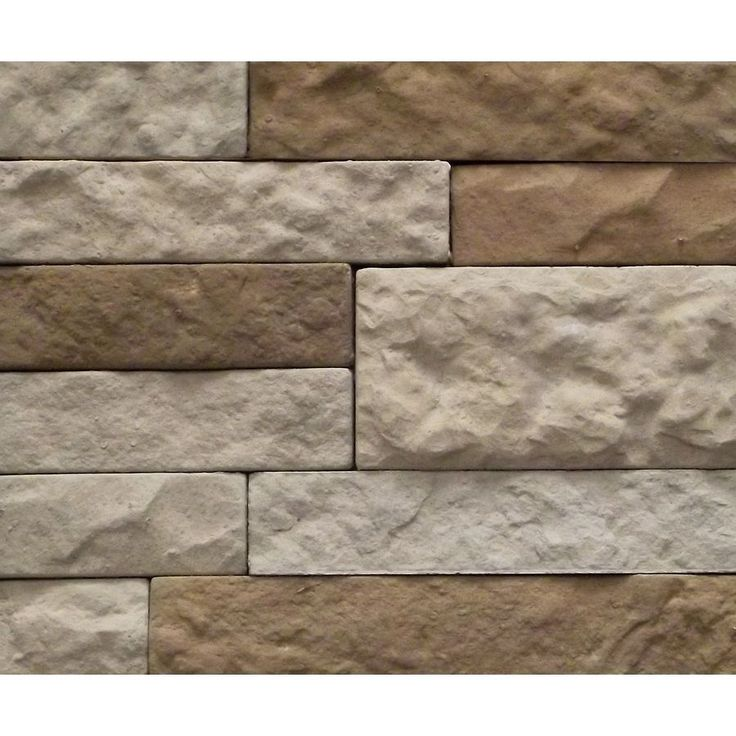 Airstone 8 Square Ft Individual Concrete Stones In Cream Greige And Brown Tones Faux Stone Veneer
