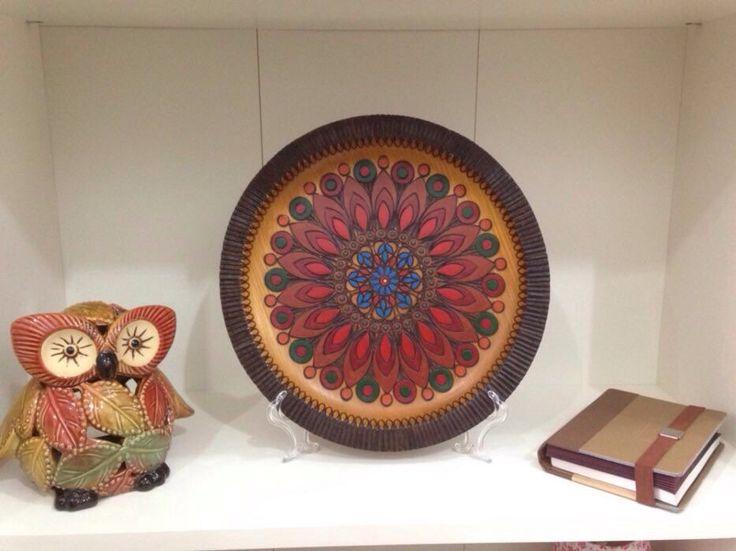 wood-plate handpainted