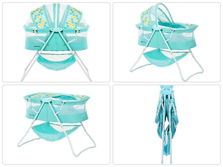 Portable #Baby #Sleeper #Bassinet Aqua #Infant #Folding #Canopy #Nursery #Newborn #Travel