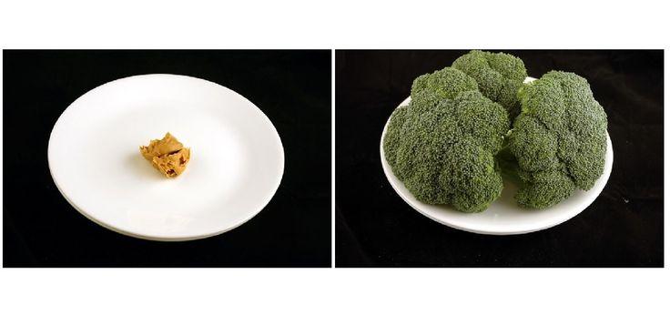 Dat chips meer calorieën bevatdan broccoli, weten we wel. Maar leg, zoals wiseGEEK.com, verschillende productenin porties van 200 calorieënop een…