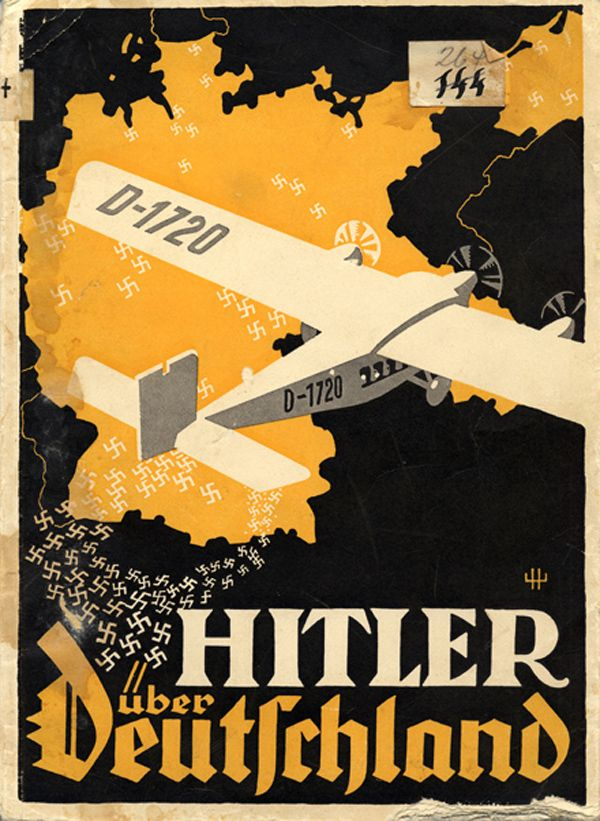 """Before 1933: Poster for German Elections """"Hitler over Germany"""""""