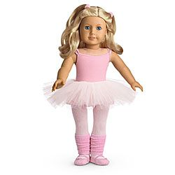 American Girl® Clothing: Ballet Outfit for Dolls + Charm          I WANT THIS BECAUSE I WANT MORE CLOTHES  so cute