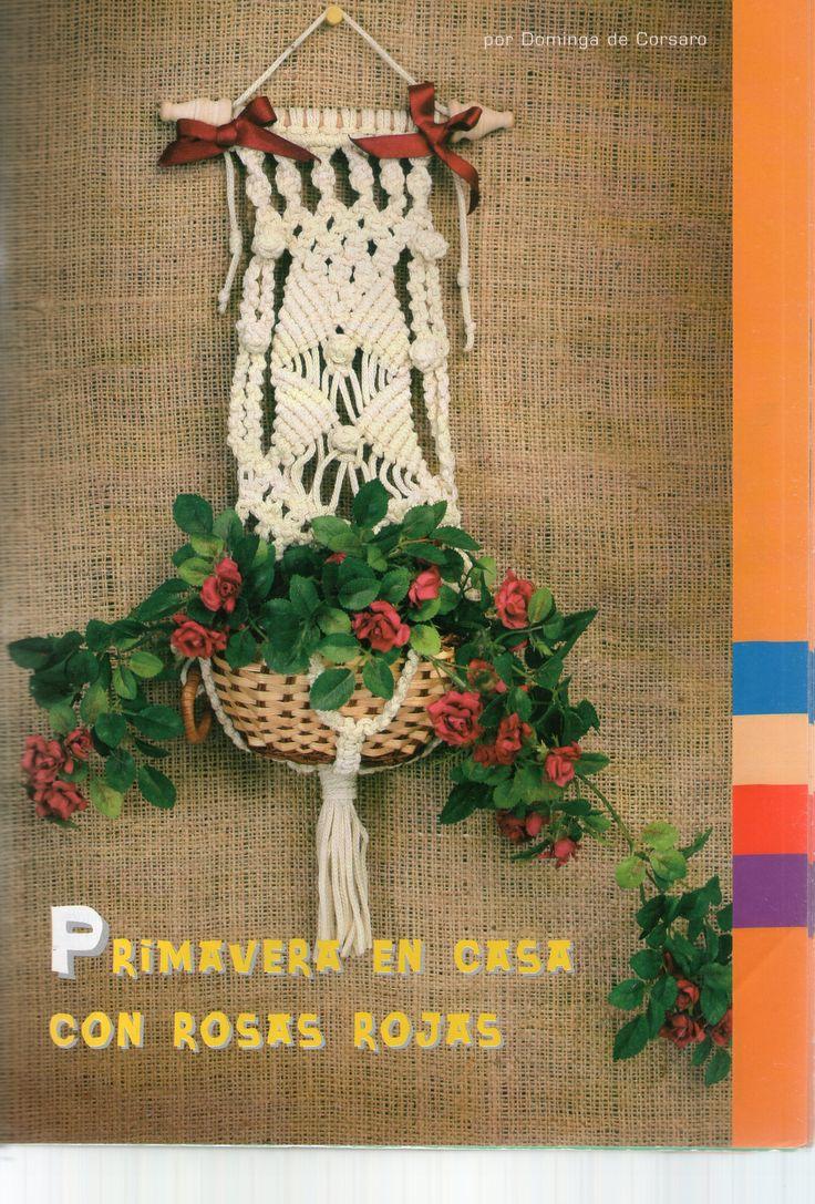 Porta maceta macrame cortina pinterest - Colgadores de macetas ...