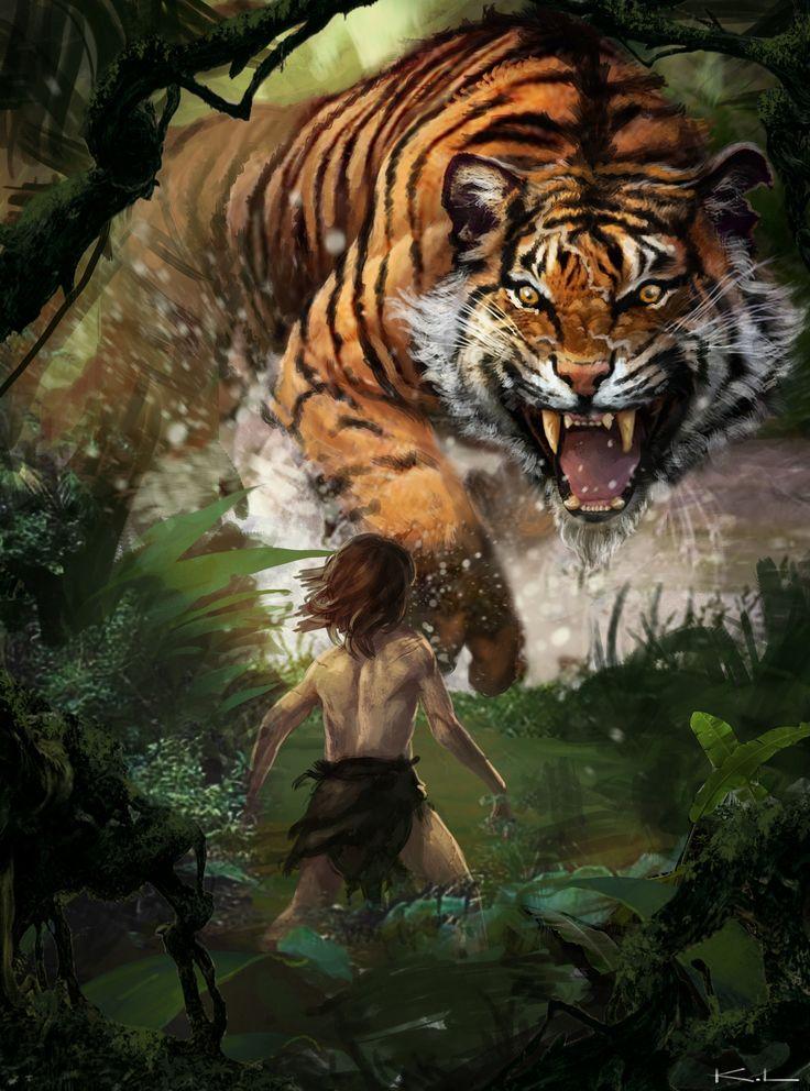 картинки фэнтези и тигры пятку