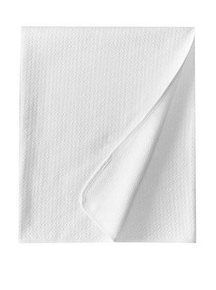 68% OFF Coyuchi Subtle Diamond Matelasse Coverlet (White)