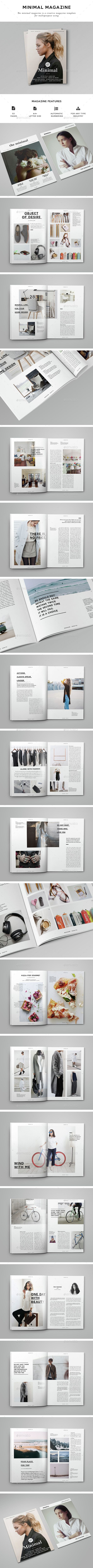 Clean Magazine 53 Pages — InDesign INDD #clean #indesign • Available here …