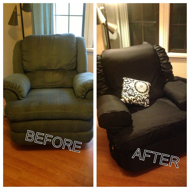Diy Recliner Cover Pinteres