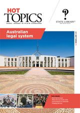 An overview of the elements of our system and how it developed, covering how law is made, what the law deals with and the roles of the legislature, judiciary and executive.    Information on the Australian legal system is rarely to be found in a single publication and in a reader-friendly accessible format. Hot Topics is published by the Legal Information Access Centre (LIAC), State Library of NSW. Visit our website for more information: http://www.legalanswers.sl.nsw.gov.au/hot_topics/