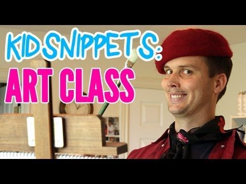 Kid Snippets: Art Class (Imagined by Kids) - YouTube. i laughed so much at this