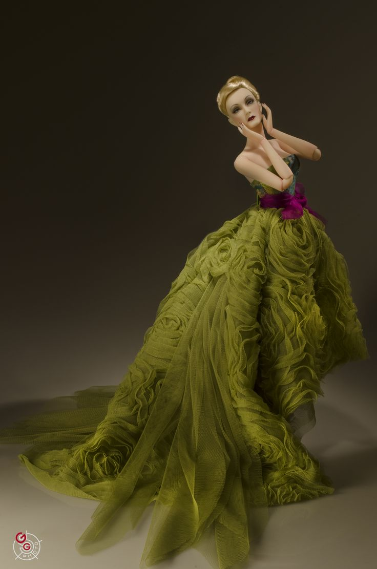 JAMIEshow Marlena Dietrich in OOAK Maddie Rose Couture Gown ~ Image and styling by George Gonzalez ~ The Studio Commissary