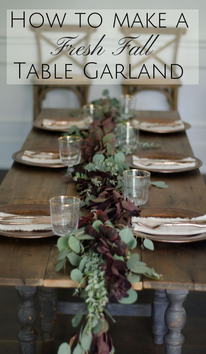 Outstanding How To Make A Fresh Greenery Table Garland Events Home Interior And Landscaping Transignezvosmurscom
