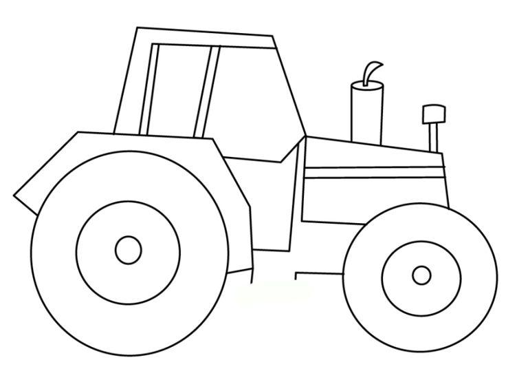 traktor ausmalbilder 09 | omalovanky | Pinterest | Traktoren ...