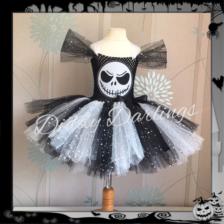 Sparkly Jack Skellington Tutu Dress. Inspired Handmade All Sizes Fully Customised Halloween, Christmas, Party, Fancy Dress Halloween Costume by DiddyDarlings on Etsy