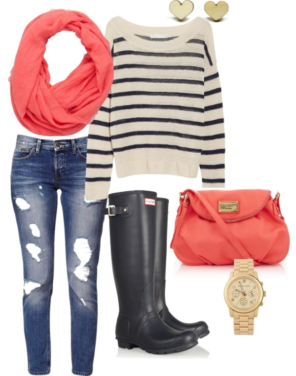 """""""Spring 2013 Navy Hunter Boots"""" by lisantay on Polyvore"""