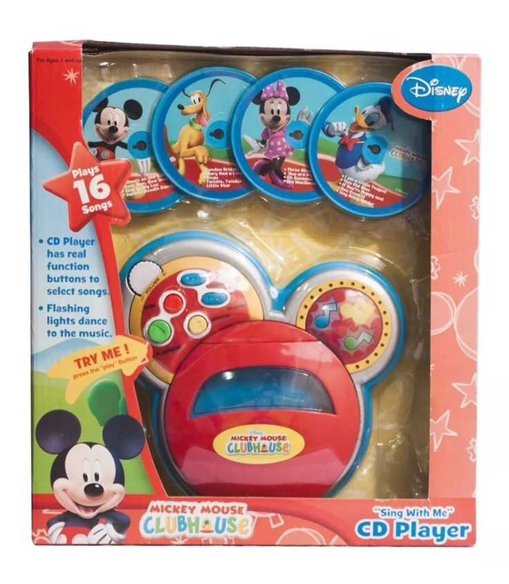 """Disney Mickey Mouse Clubhouse """"Sing with Me"""" CD Player Mickey Mouse CD Player  