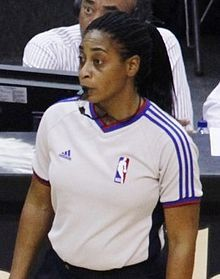 Violet Palmer: First woman to officiate an NBA playoff game (April 25, 2006)