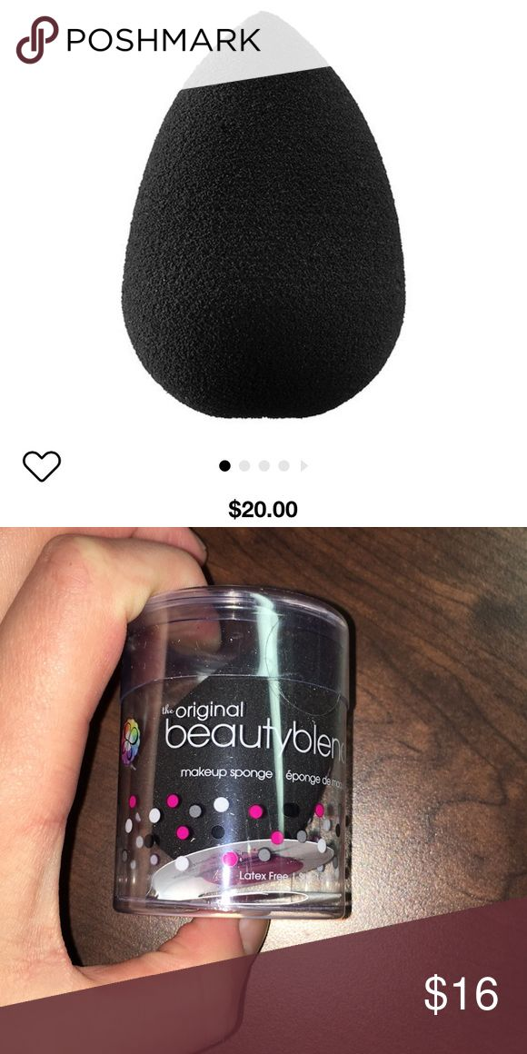NEW! The Original Beauty Blender in Black Brand new, never used, still in packaging. This is the original, NOT the pro. Gift with purchase. BeautyBlender Makeup Brushes & Tools