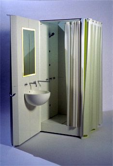 142 best images about salle de bain on pinterest round for Cabine de douche avec wc et lavabo