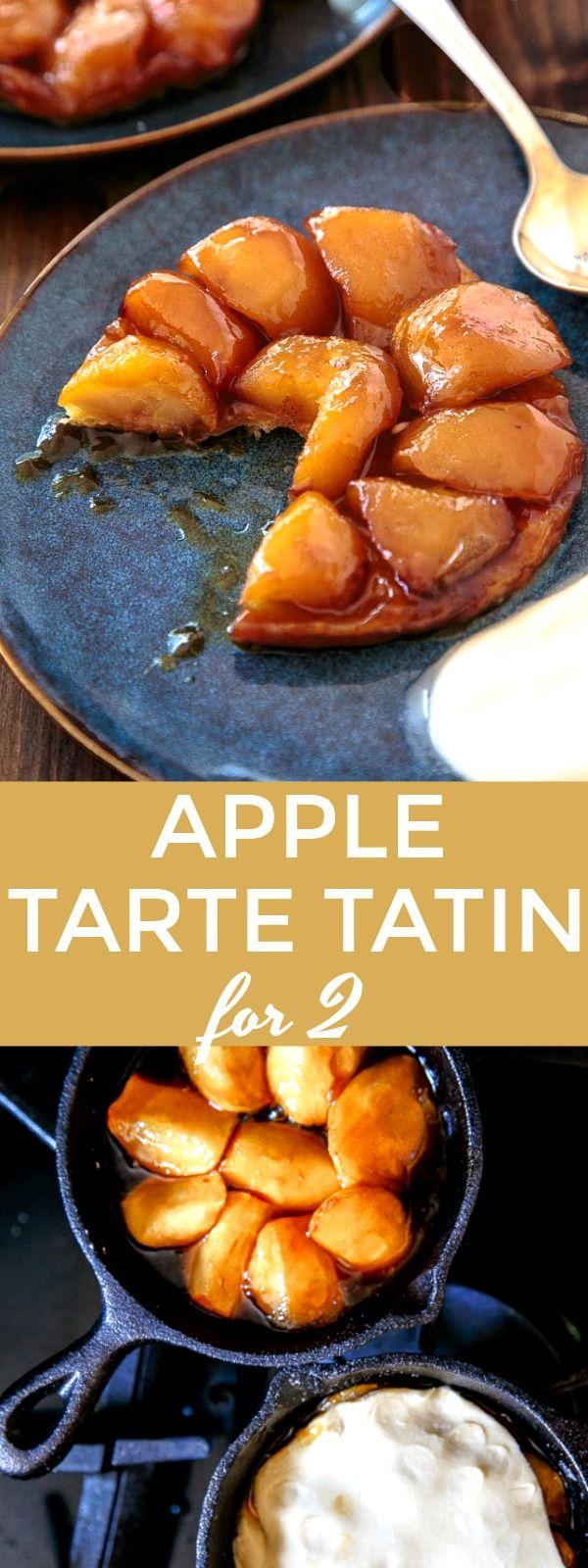 Apple Tarte Tatin for two via @dessertfortwo