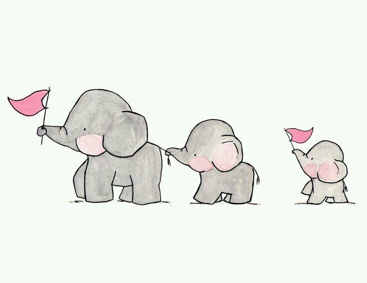 Elefantes. Cuadros ideas