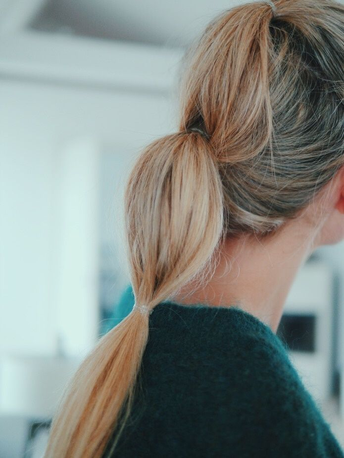 Style...Camilla Pihl // waterfall pony tail