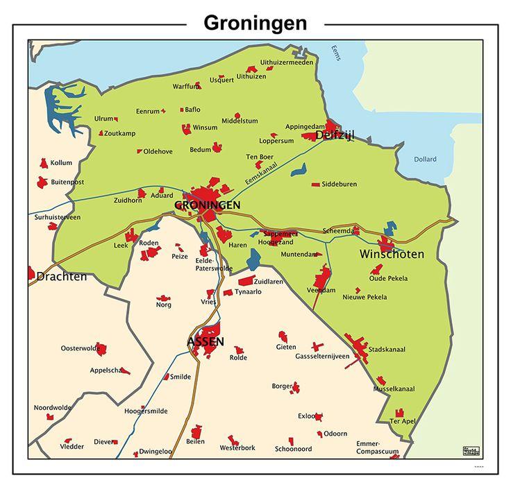 gemeenten groningen kaart - Google zoeken