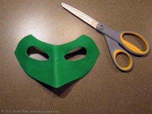 Green Lantern mask how-to