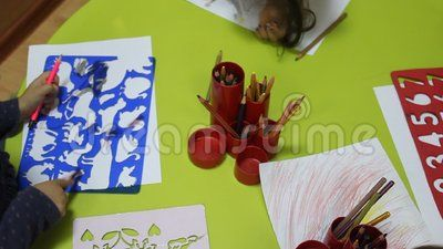 Preschool Children Using Crayons - Download From Over 36 Million High Quality Stock Photos, Images, Vectors, Stock Video. Sign up for FREE today. Video: 60071915