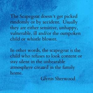 You can become a lifelong victim unless you find a way to break the pattern. .Why family scapegoats become lifelong victims.