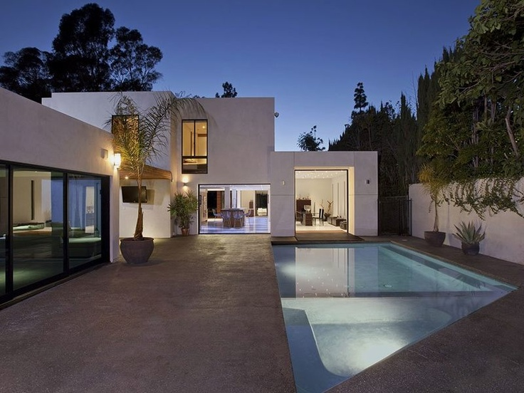 back of Typically Luxurious Residence of Beverly Hills