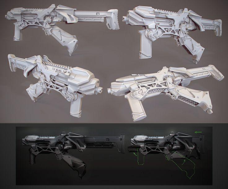 cg 3d weapon models