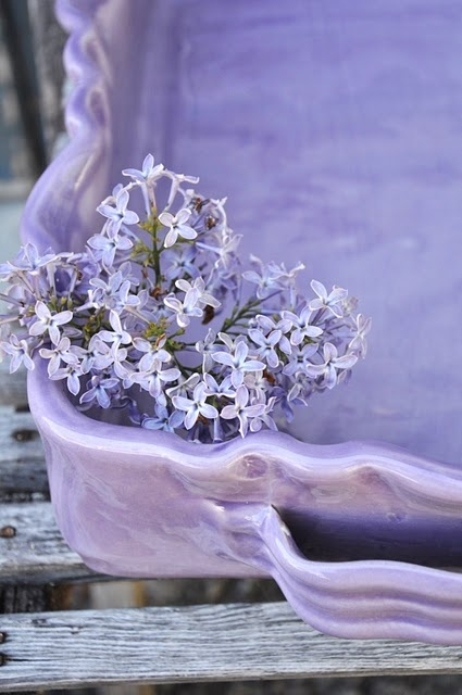 lavender casserole dish - I would have a casserole every night just so I could use this peice!!!