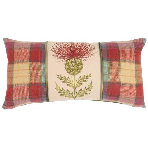 Tartan fabrics mix well with floral designs.