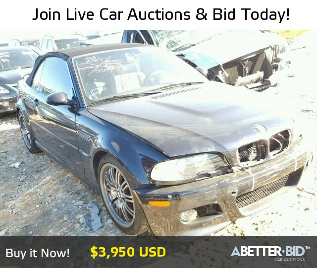 Salvage  2002 BMW M3 for Sale - WBSBR93492EX24513 - https://abetter.bid/en/18823206-2002-bmw-m3