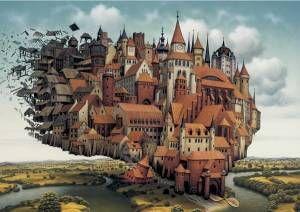 Puzzle Schmidt de 1000 Piezas Ciudad Voladora