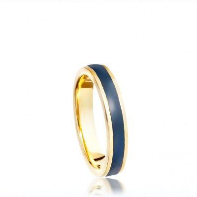 MIDNIGHT BLUE ENAMEL RING