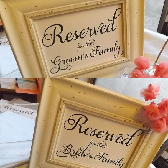 Reserved Sign Reserved Wedding Reserved Table Sign