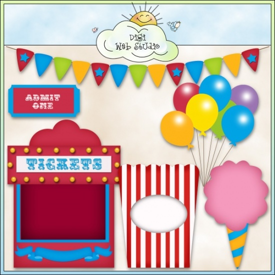Circus Fun 1 - Non-Exclusive Clip Art