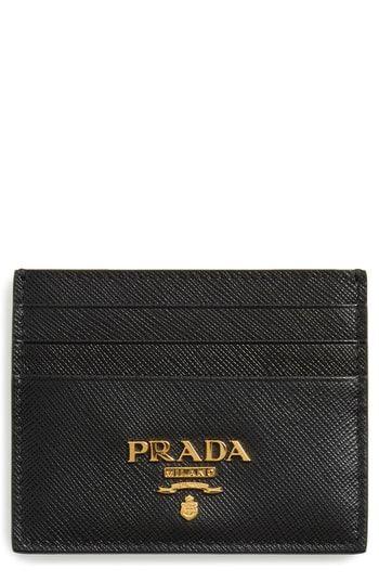 0c3900d86165 New Prada Saffiano Metal Oro Leather Card Case. Women's Fashion Handbags  [$235]yourfavoriteclothing