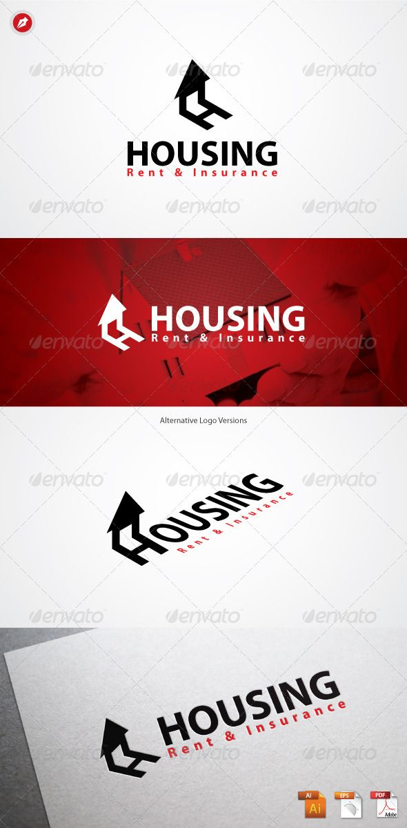 """Housing Logo #GraphicRiver Housing Logo Home with """"H"""" shadow, this logo represent how huge the housing company will grow. This logo is suitable for any company/corporation related to Housing, Home Rent, Home Insurance, Property, Building, Contractor, Architect, Public Housing, Apartment, etc. Highly made for those who need Strong, Trustworthy, Memorable, Editable, Simple and Versatile logo. Features : 100 % Vector (AI, EPS, PDF) Editable and Resizable CMYK color mode (for print and web…"""