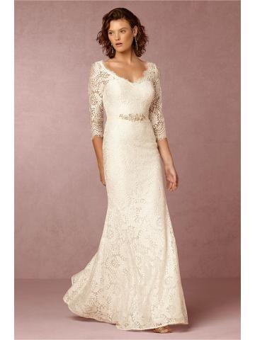 tijdloze kant schede bruids trouwjurken