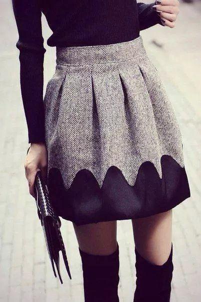 Skirt + OTK boot.