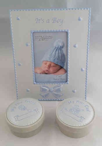 Baby Boy Keepsake Frame and Boxes