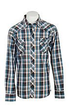 Garth Brooks Sevens by Cinch Men's Brown Plaid Long Sleeve Western Snap Shirt