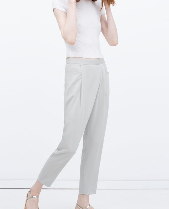 ZARA - NEW THIS WEEK - CREPE DRAPEY TROUSERS